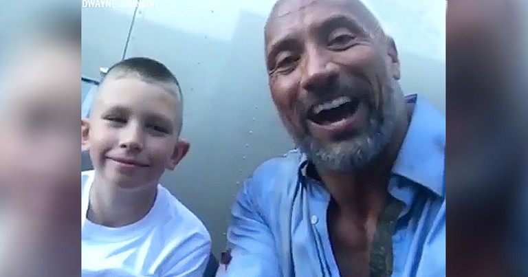10-Year-Old Hero Who Saved Brother Meets The Rock