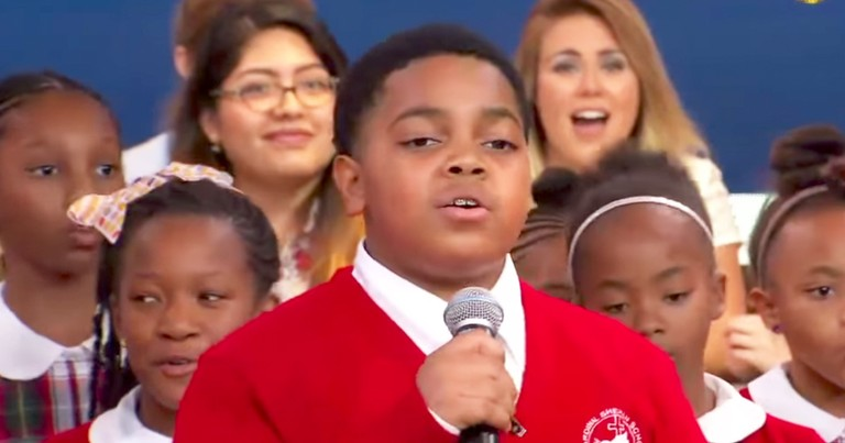Viral Middle School Choir Gives Incredible Live Performance Of 'Rise Up' On GMA