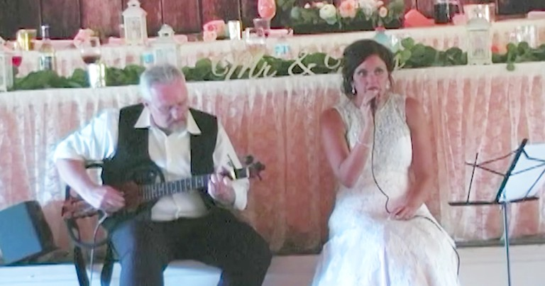 Father And Daughter Sing Heartfelt Duet At Wedding Weeks Before Cancer Diagnosis