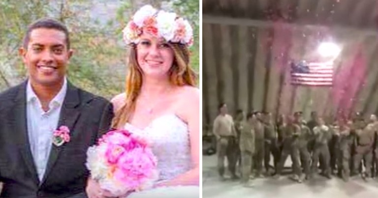 Troop Honors Fallen Soldier With Heartfelt Gender Reveal Announcement