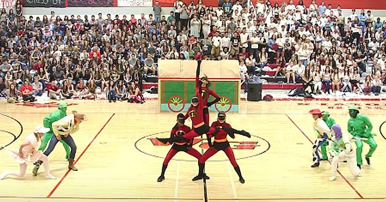 High School Dance Team's Creative Disney Pixar Routine Goes Viral