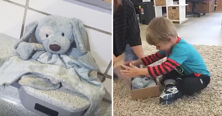 Little Boy Reunites With Lost Stuffed Animal Thanks To A Stranger