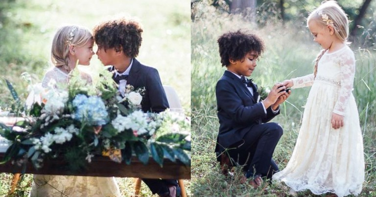 Photographer Moms Stage Adorable Wedding Shoot With Their Kids