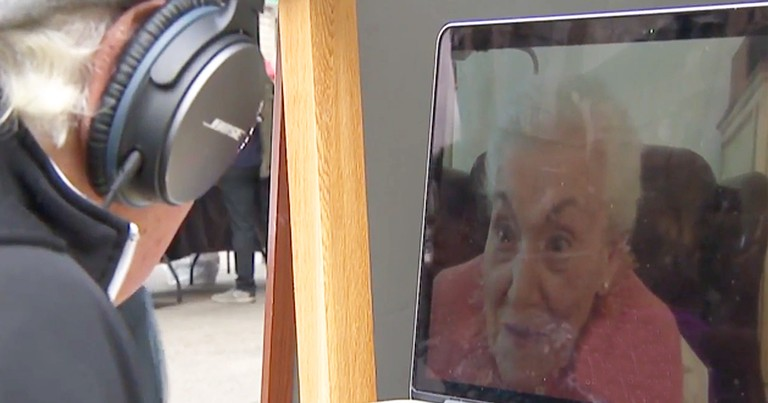 Random Laptop Connects Strangers With 100-Year-Old Granny