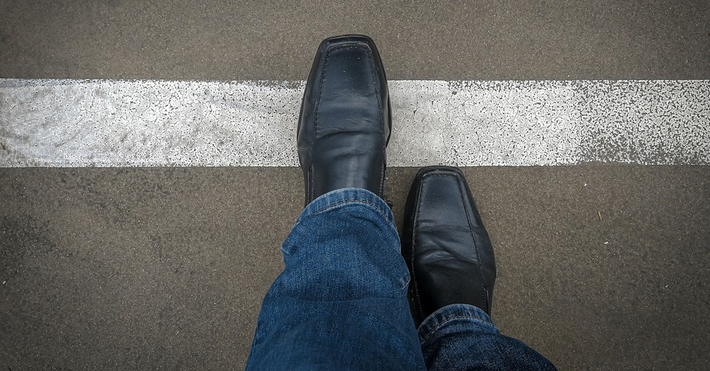 Foot crossing over a boundary, boundaries in marriage