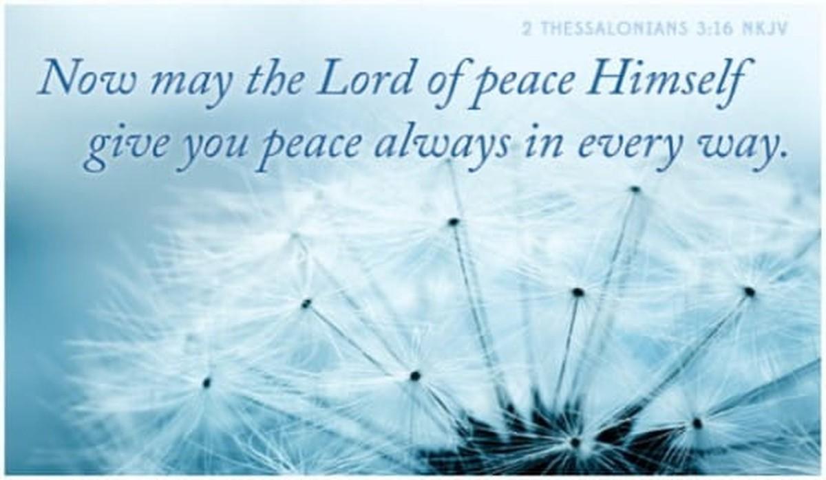 2 Thessalonians 3:16 NKJV