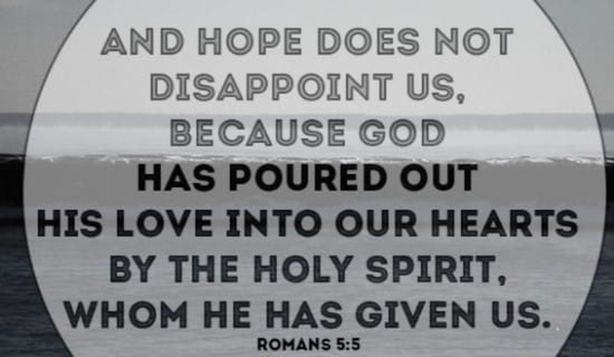 He has poured HIS love into our hearts