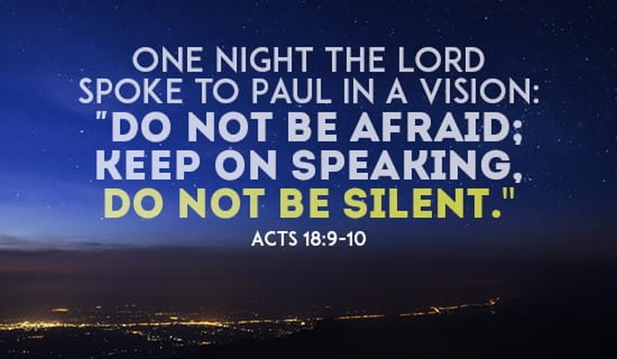 Acts 18:9-10