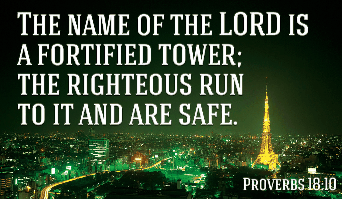 In Christ, we are safe from anything the enemy can throw at us! - Proverbs 18:10