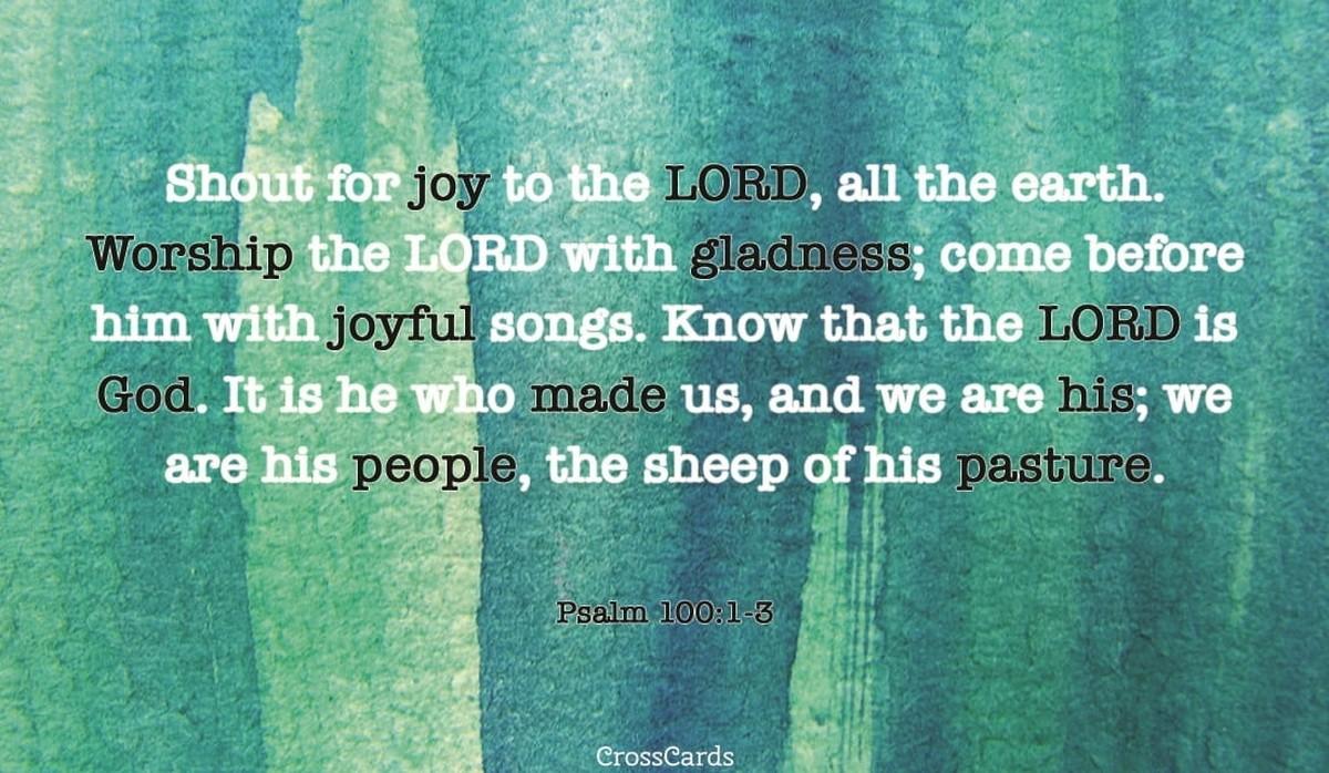 Psalm 100:1-3
