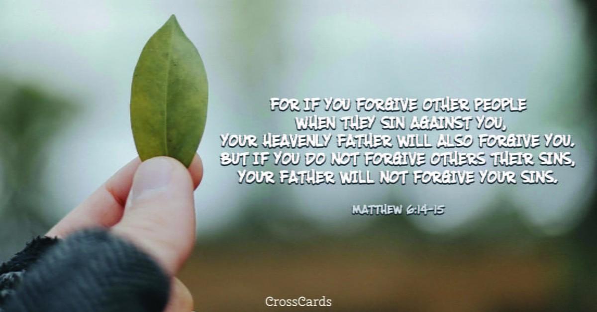 Matthew 6:14-15