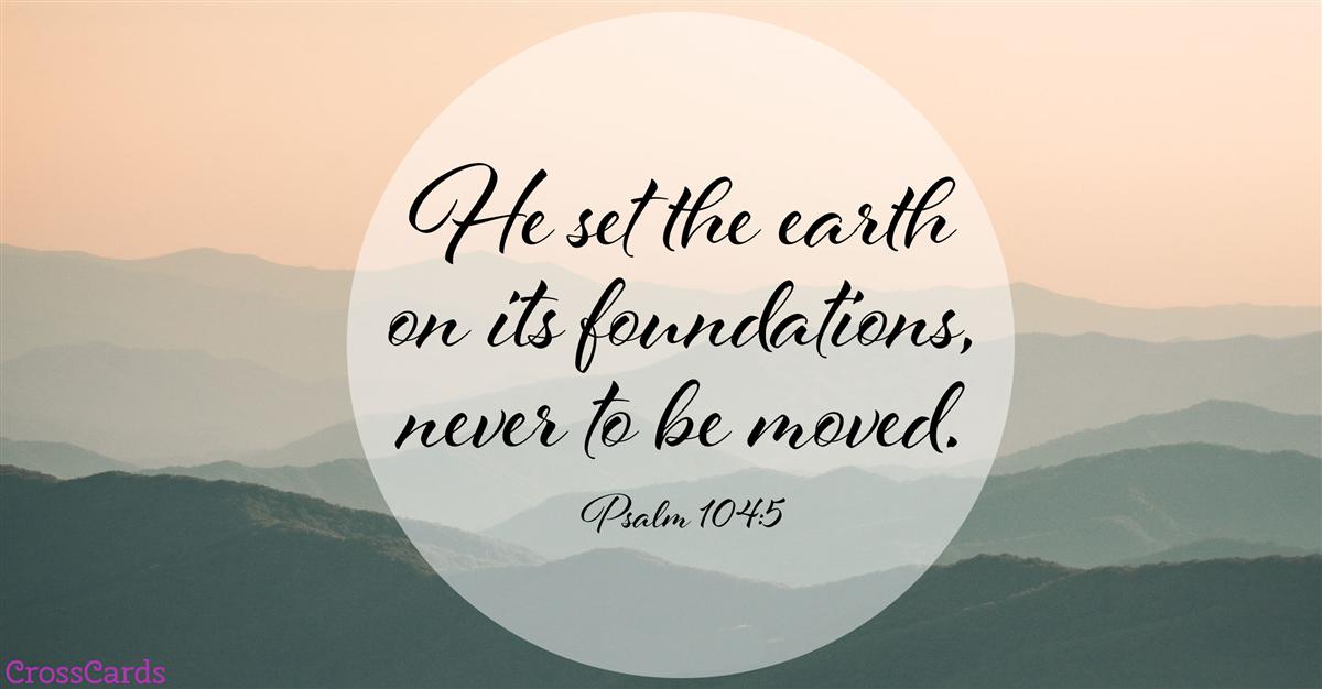 Psalm 104:5