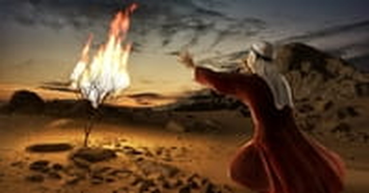 5. The Voice that spoke to Moses within the burning bush.