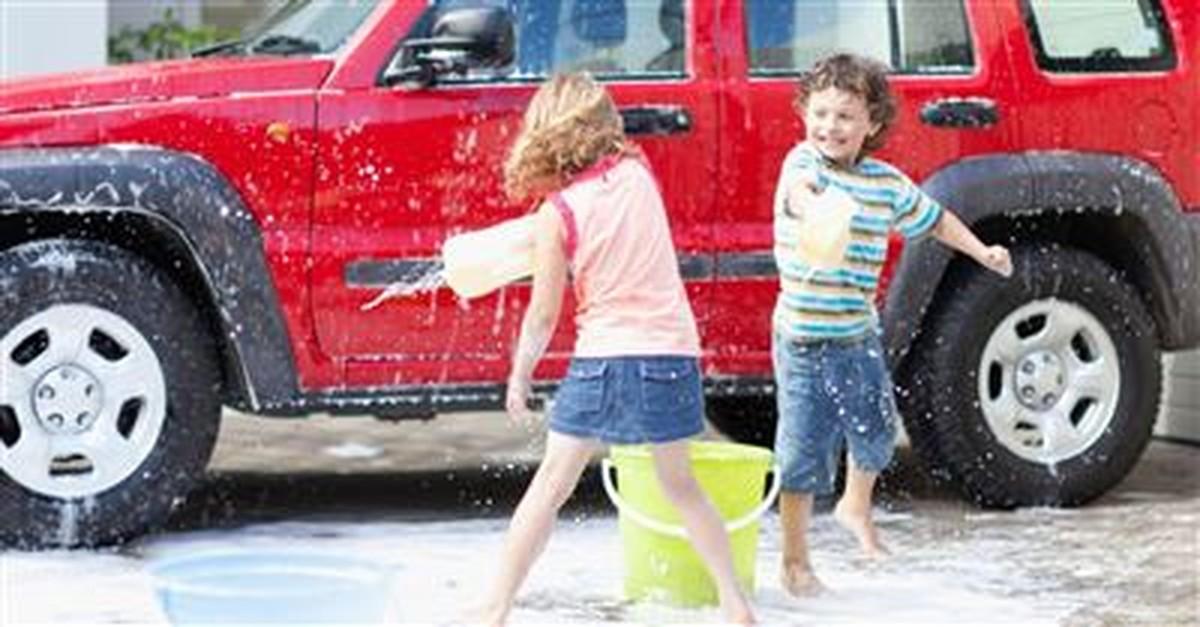 1. Wash the car.