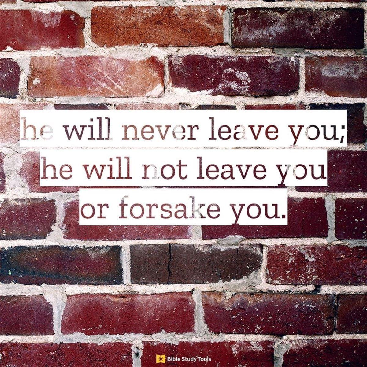 Your Daily Verse - Deuteronomy 31:8