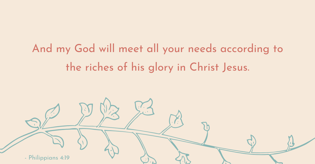 Your Daily Verse - Philippians 4:16