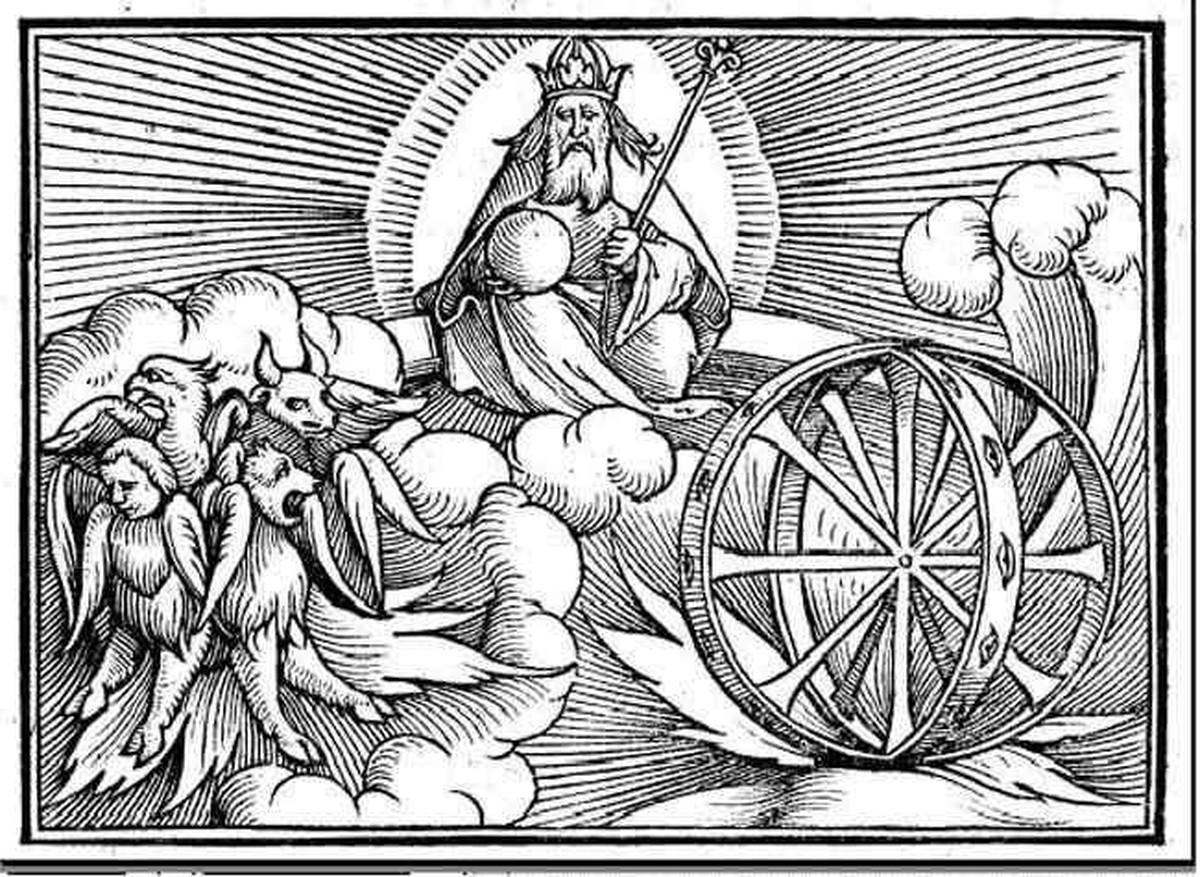 ezekiel's wheel, ezekiel wheel within a wheel, wheel in the middle of a wheel