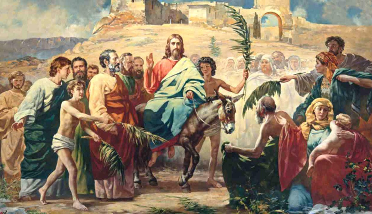 jesus enters jerusalem, triumphal entry, jesus triumphal entry
