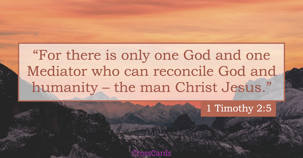 1 Timothy 2:5 Scripture card