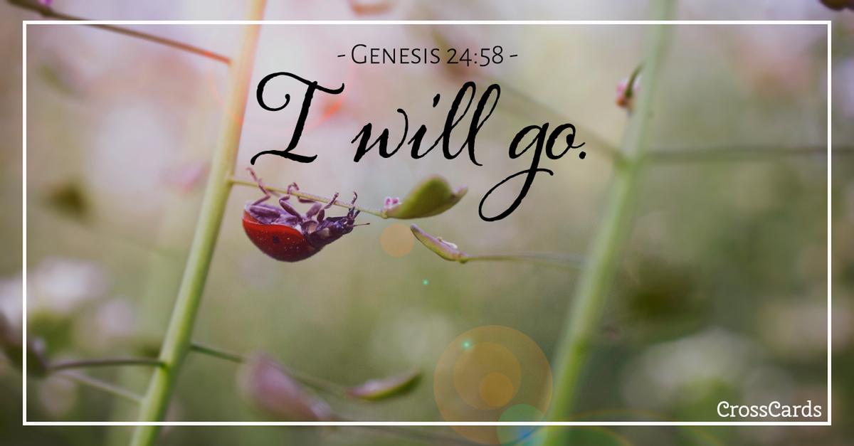 Genesis 24:58 Scripture Card