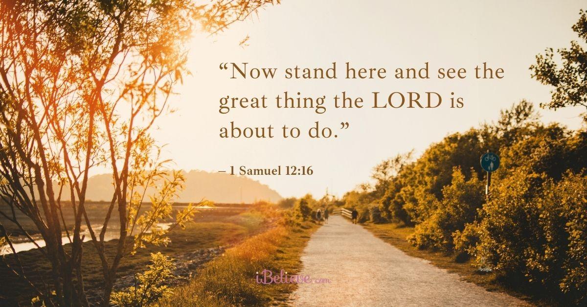 1 samuel 12:16, scripture verse image