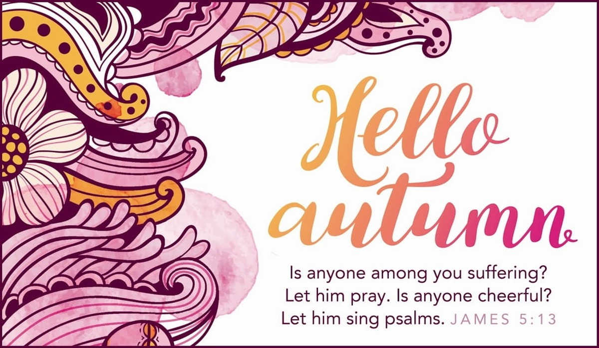 james 5:13, autumn ecard, scripture verse image card