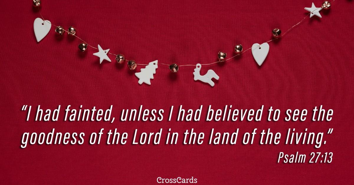 Psalm 27:13 scripture card