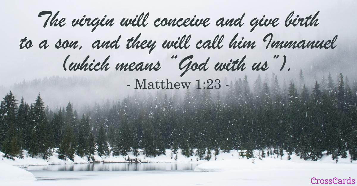 Matthew 1:23 Scripture card