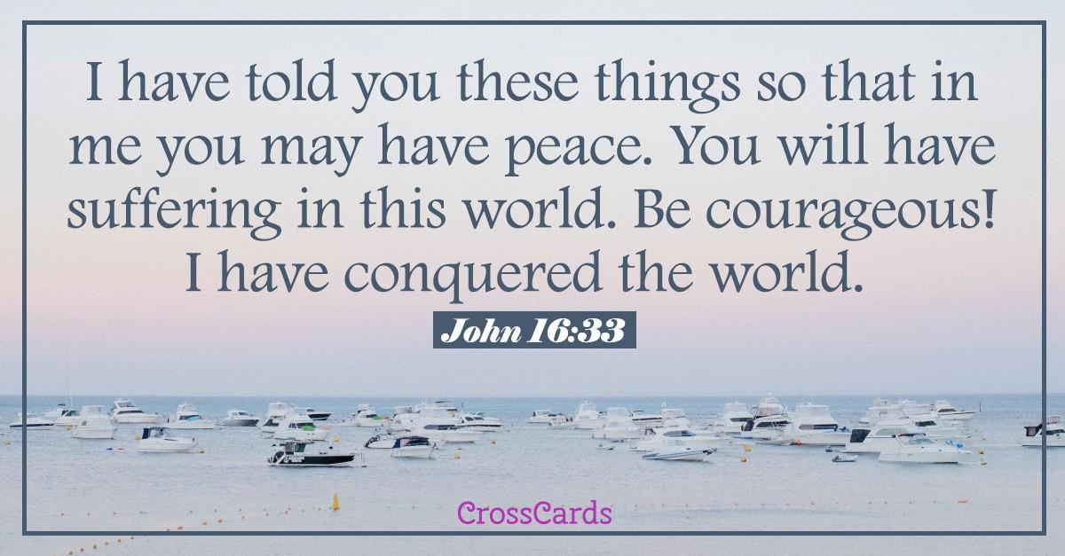 John 16:33 - Scripture card