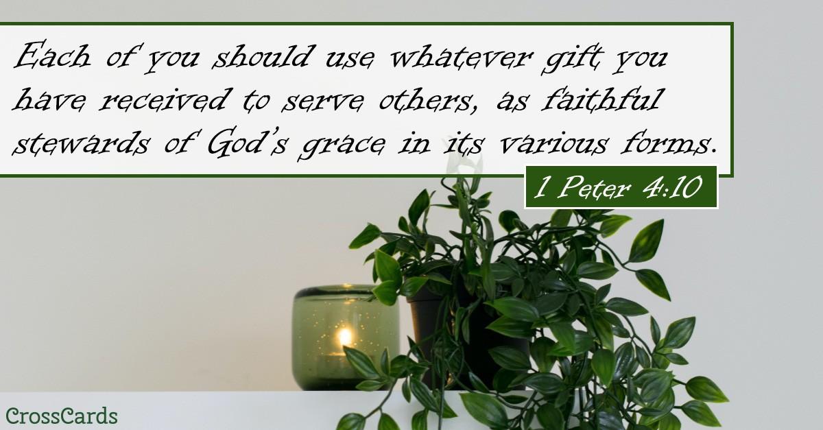 1 Peter 4:10 Scripture card