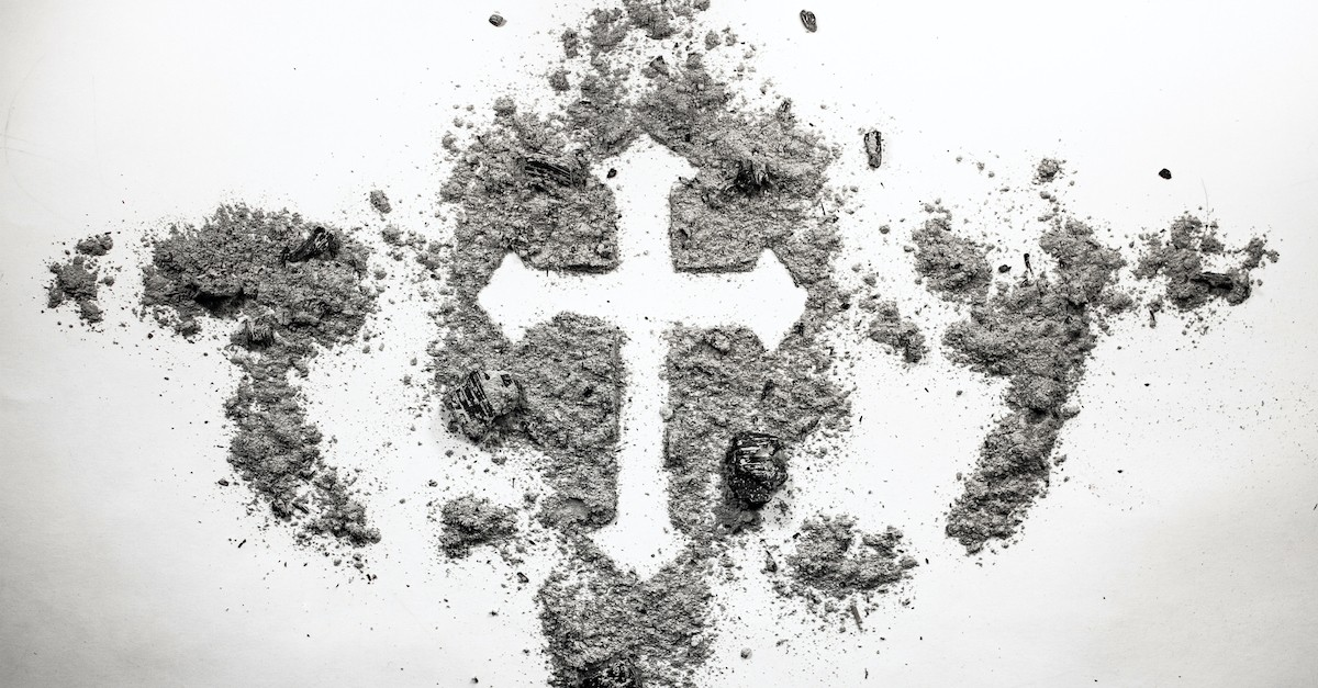 ashes forming a cross, Ash Wednesday scriptures