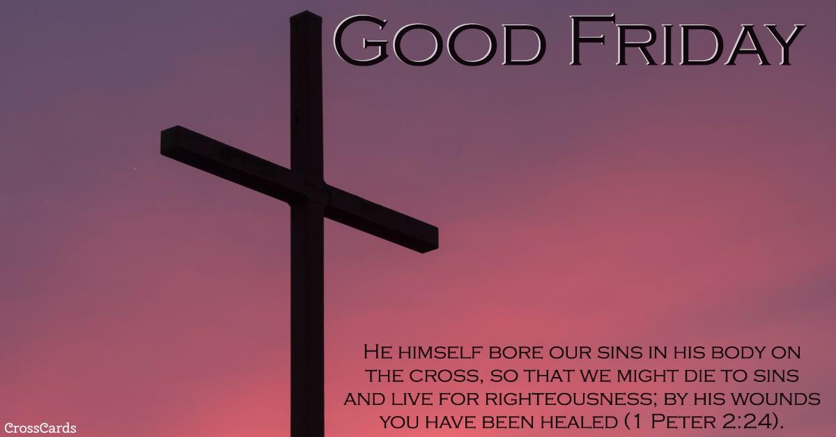 1 peter 2:24, bible scripture verse image, good friday