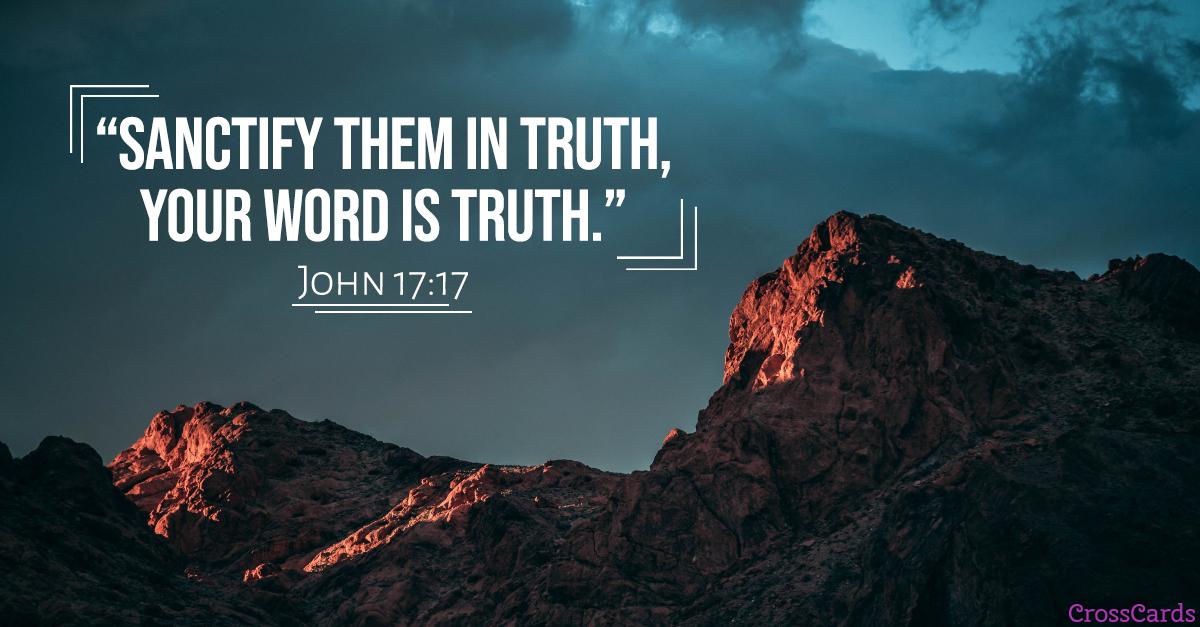 John 17:17 Scripture card