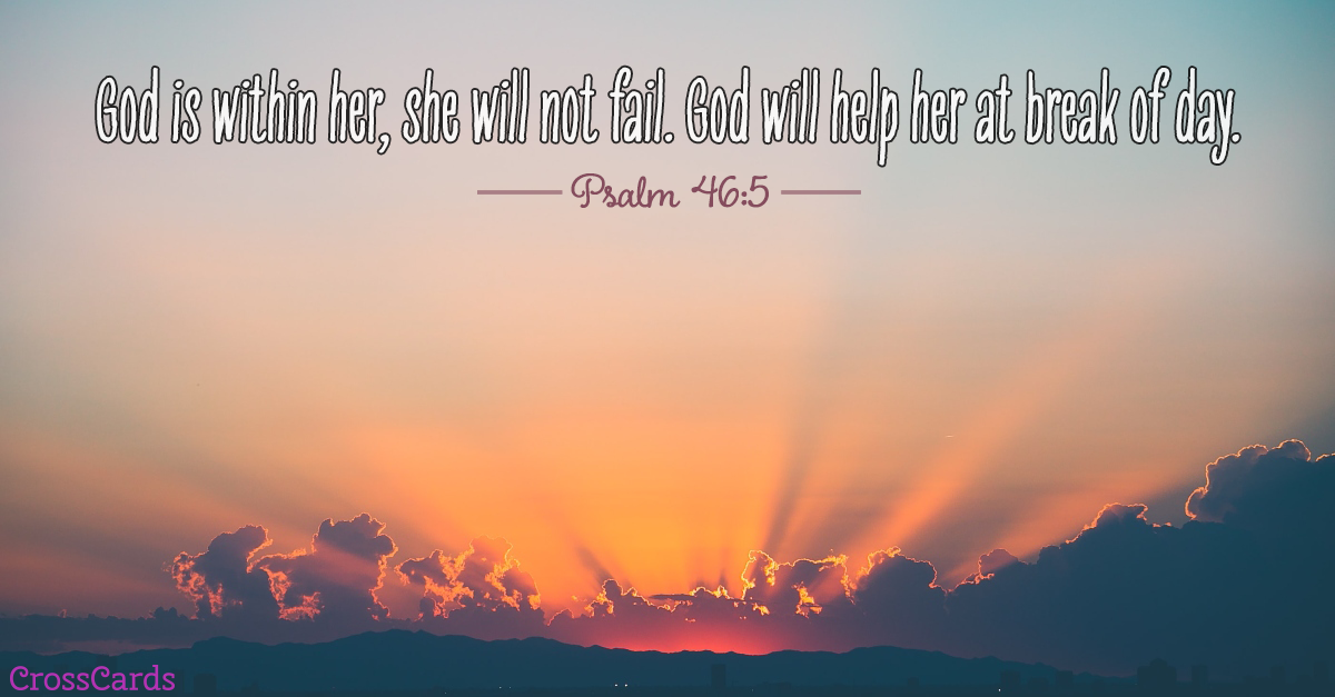 Psalm 46:5 Scripture card