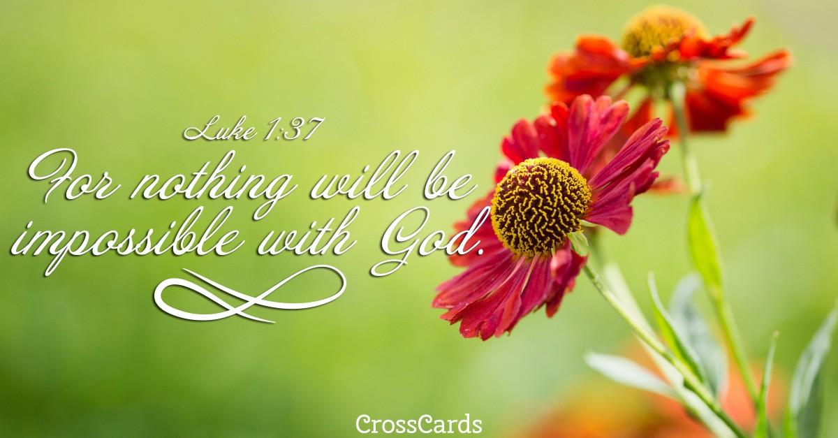 Luke 1:37 Scripture card