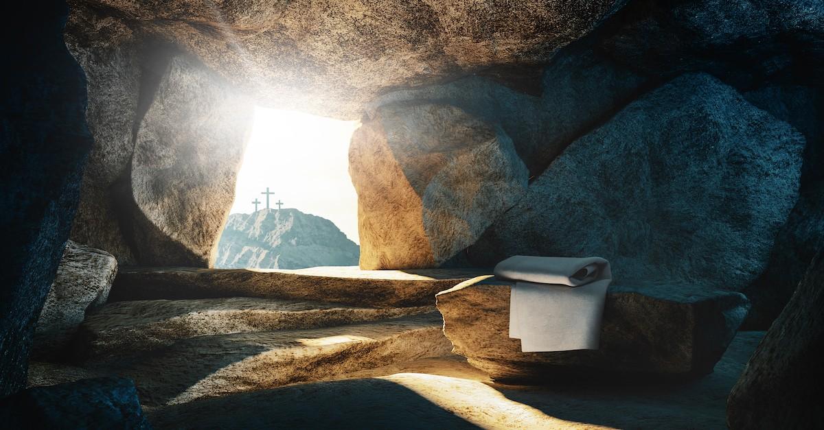 Jesus' empty, open tomb