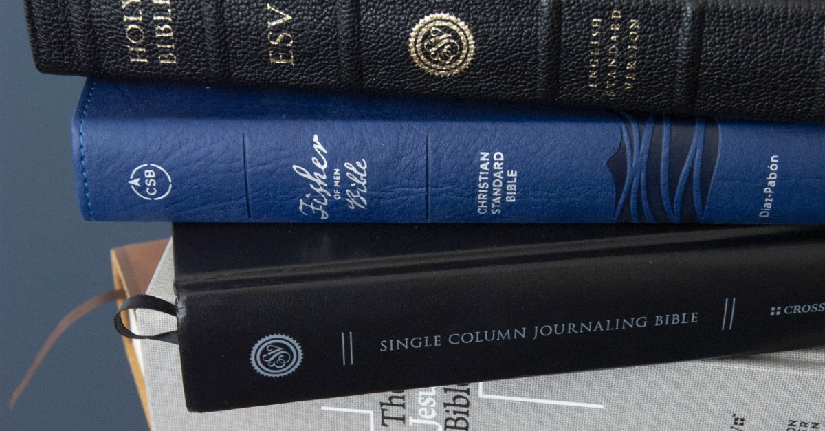 Stack of different Bible versions