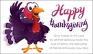 Happy Thanksgiving Cartoon Turkey
