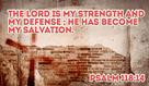 God is my STRENGTH! - Psalm 118:14