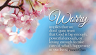 Don't worry! God can handle it!