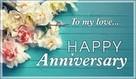 Happy Anniversary - To my love