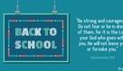 Back to School - Deut. 31:6
