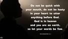 Ecclesiastes 5:2