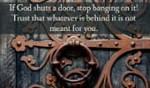 God Shuts Door