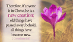 Through GOD, you are Made new! - 2 Corinthians 5:17