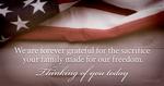 Honoring family's sacrifice