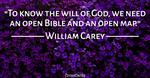 An Open Bible and an Open Map