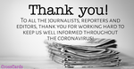 Thank You Journalists!