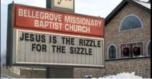 Funny Christmas Church Signs