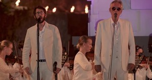 Josh Groban and Andrea Bocelli Sing 'We Will Meet Once Again' Duet